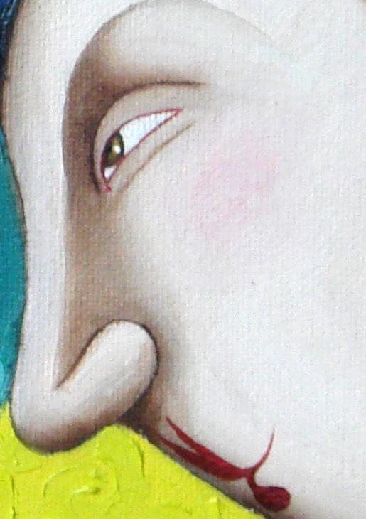 Gourmands sur fond jaune (regard) - Benoit-Basset